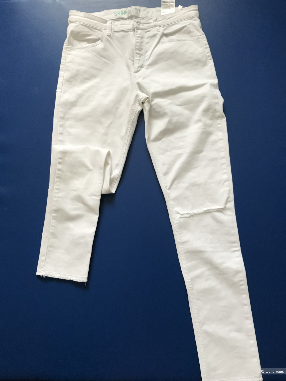 Белые джинсы Skinny ф.H&M на XXS-XS