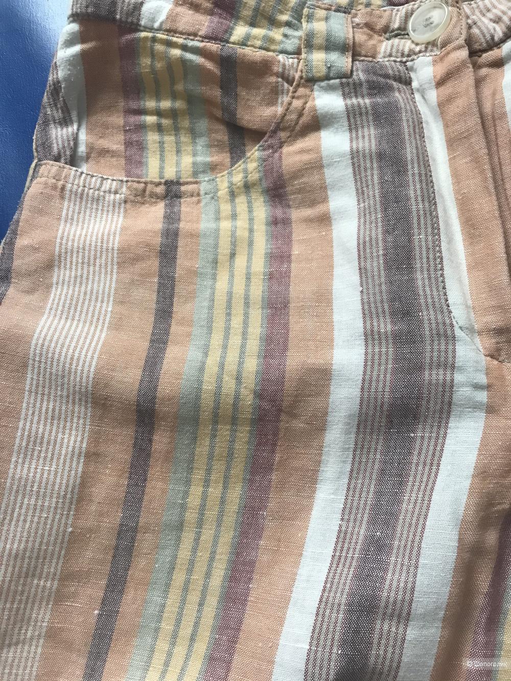 Льняные брюки 34 разм (XS)