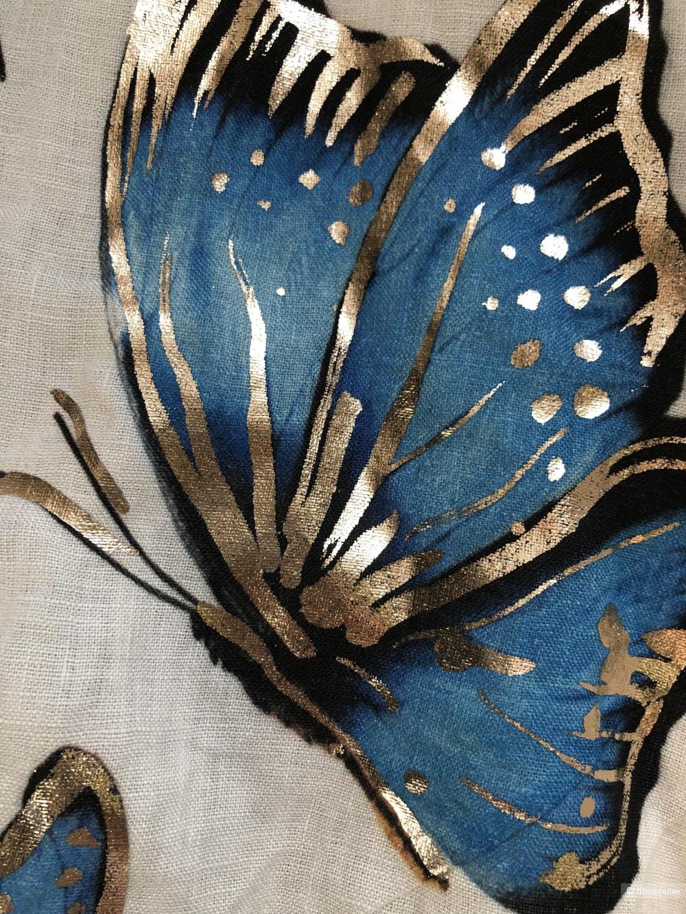 Платье лен plus size Italy Farfalle, 48-56