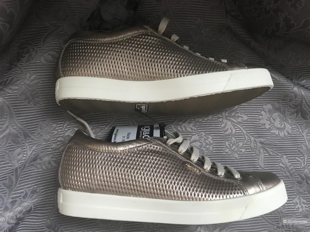 Новые кожаные кеды ф. Igi&Co