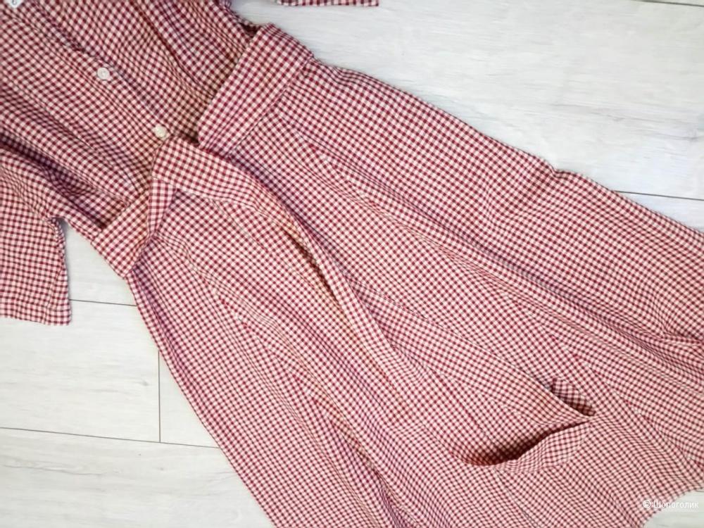 Льняное платье mango, размер S/M