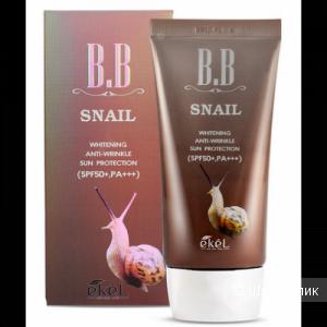 ВВ крем с фильтратом муцина улитки Ekel Snail bb cream spf50+ pa+++ 50ml