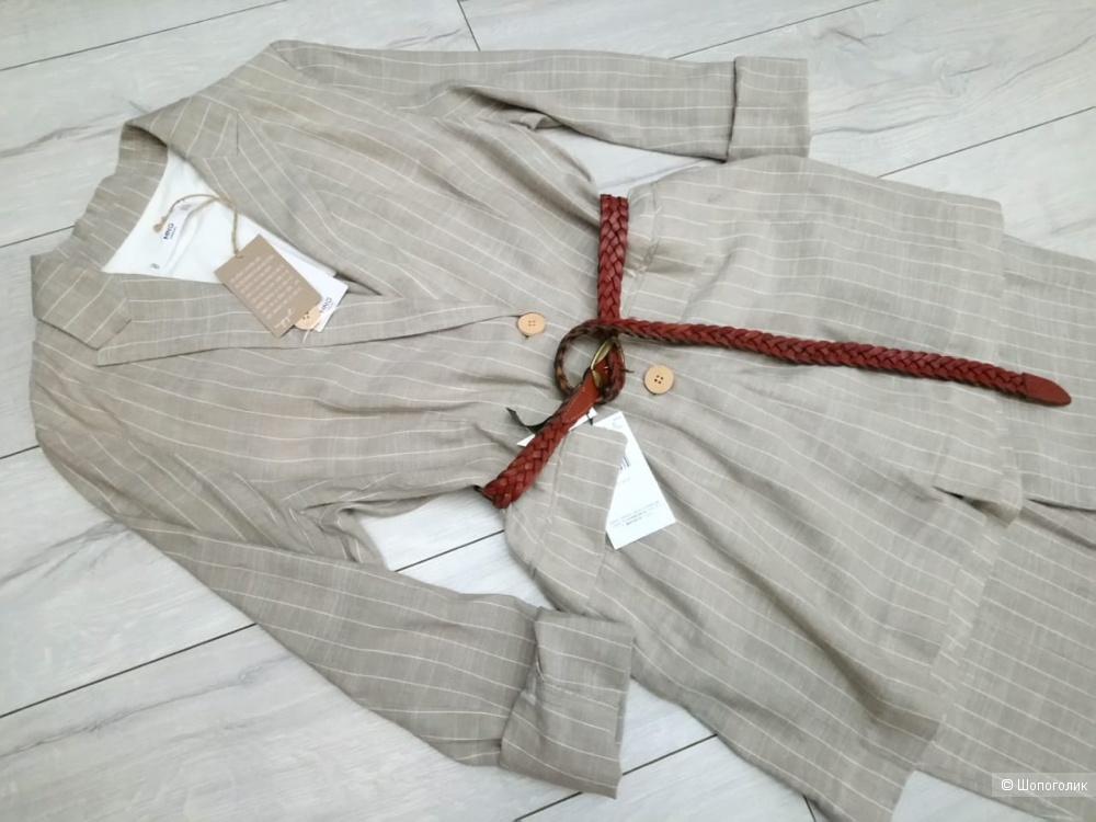 Льняной пиджак mango, размер М/L