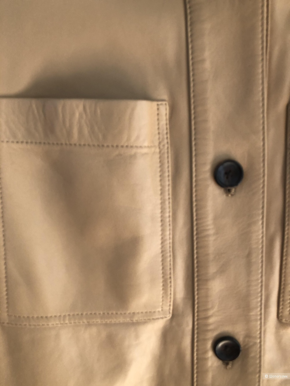 Кожаная рубашка-жакет Joseph. Размер 36fr.(S)