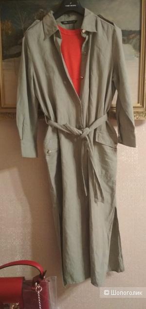 Платье-рубашка zara(L)46-48
