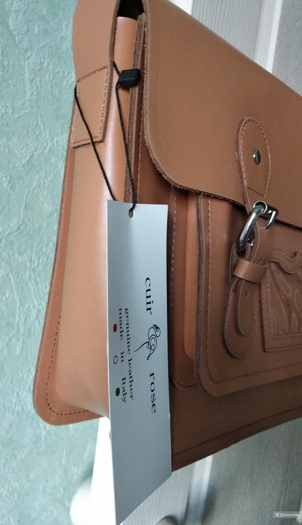 Кожаная сумка сэтчел Cuir Rose (Italy)