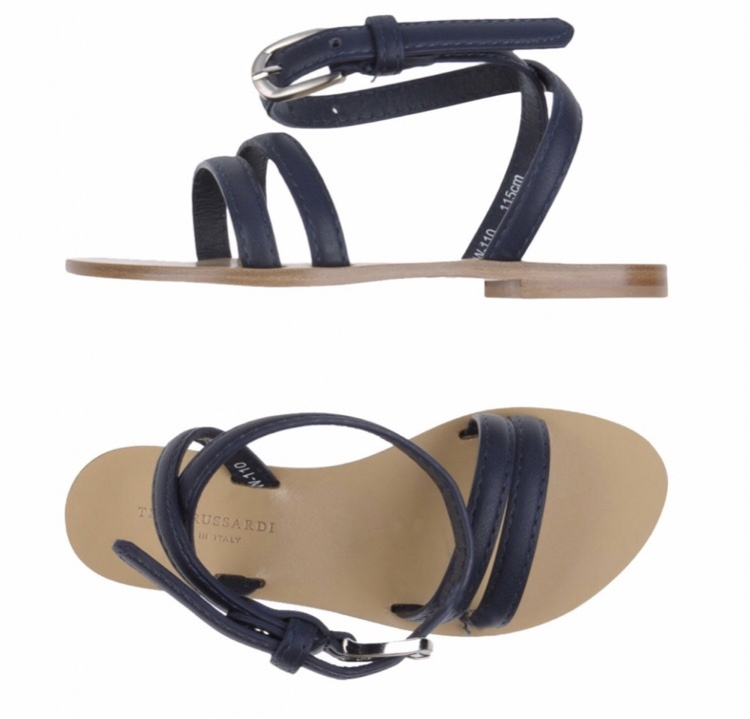 Trussardi кожаные сандалии-босоножки, размер 39