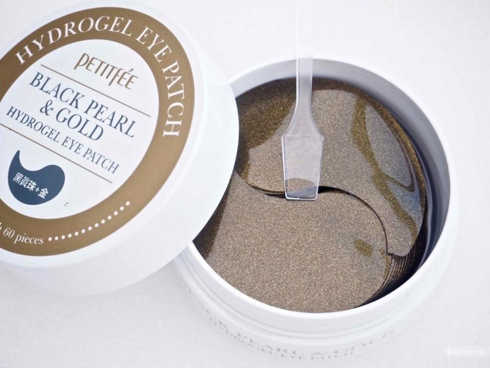 Гидрогелевые патчи для лифтинга кожи вокруг глаз с черным жемчугом и золотом  PETITFEE