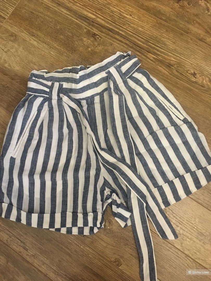 Льняные шорты Mango XS