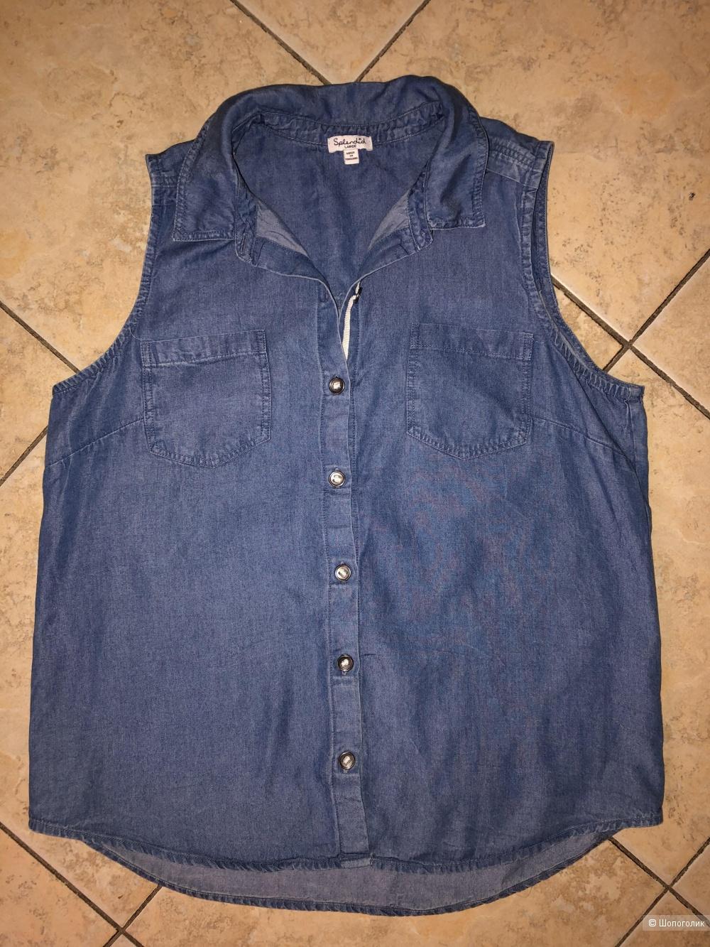 Джинсовая рубашка Splendid, размер L (на российский 46-48-50).