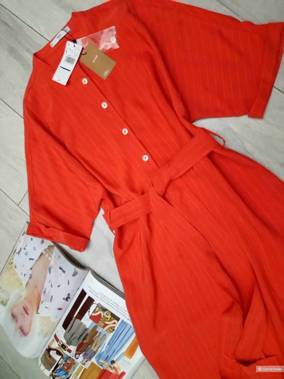 Платье-рубашка из лиоцелла mango, размер S