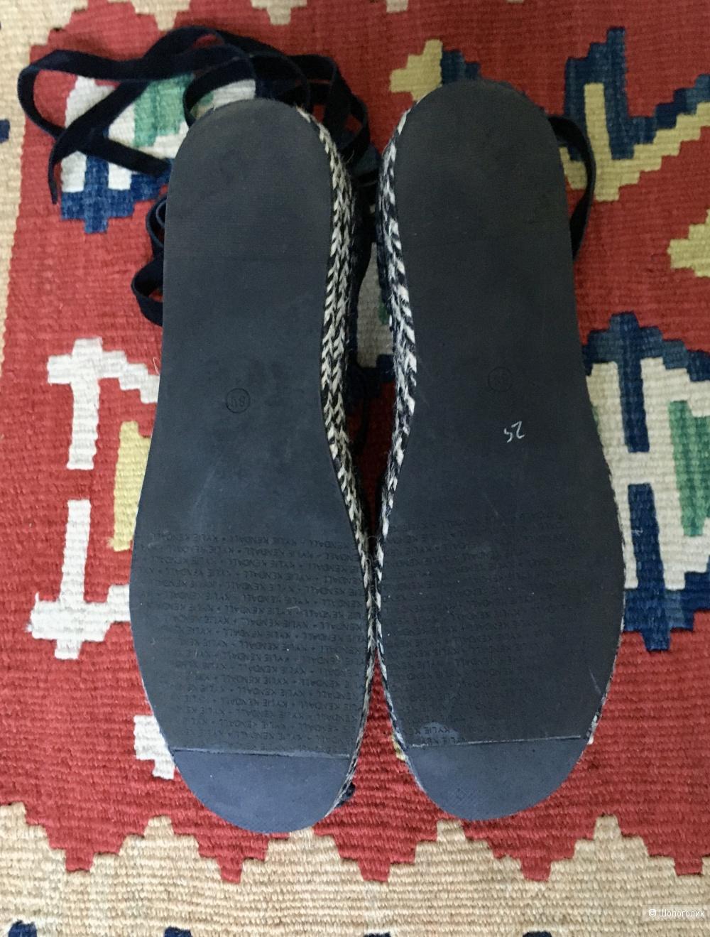 Эспадрильи сандали kendall + kylie, размер 38-38,5