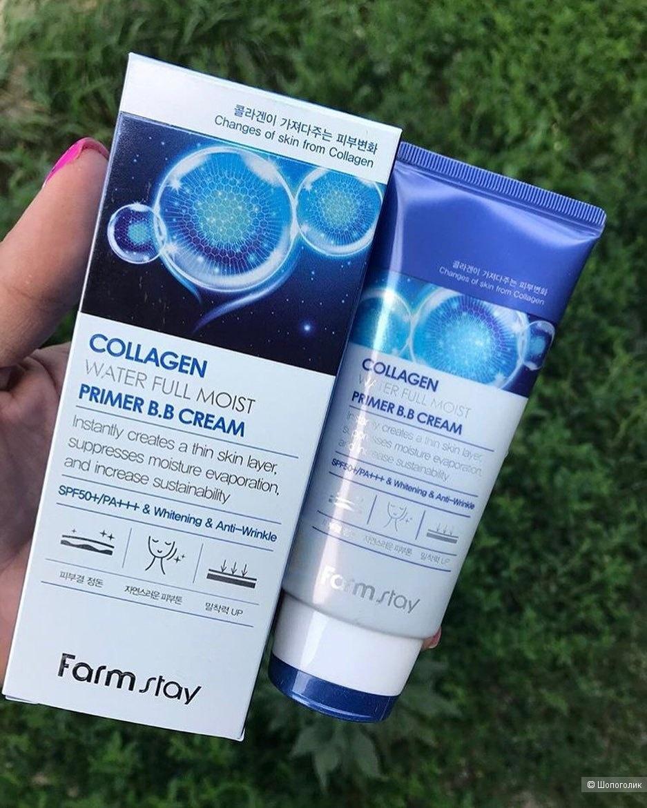 Матирующий ВВ-крем с коллагеном FarmStay Collagen Water Full Moist Primer BB Cream