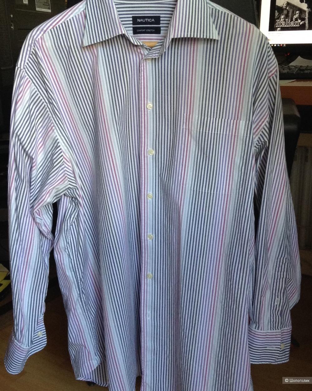 Мужская рубашка Nautica, размер XL-XXL (ворот 43-44)