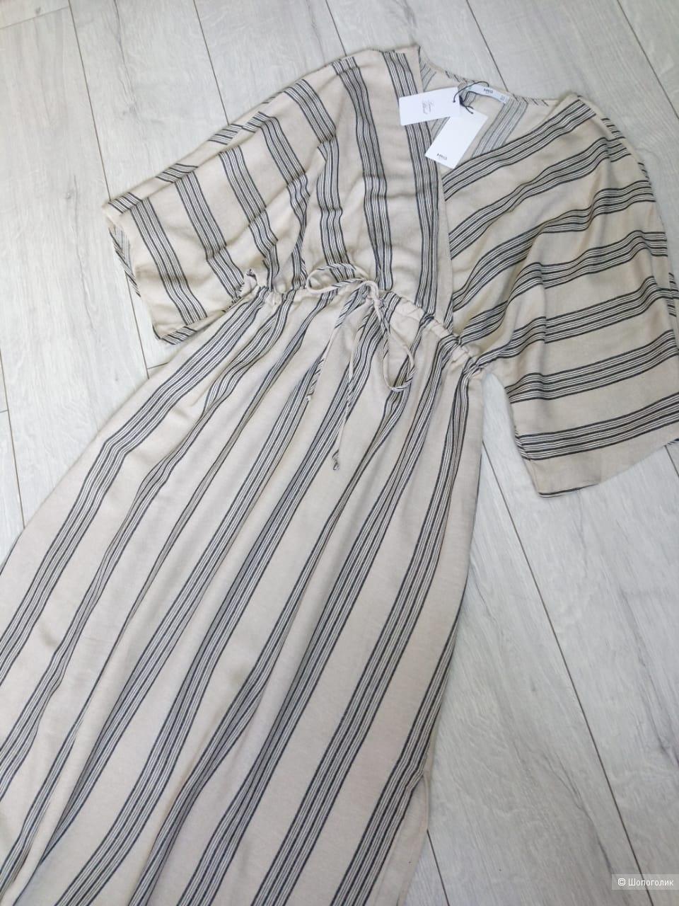 Платье со льном mango, размер M/L