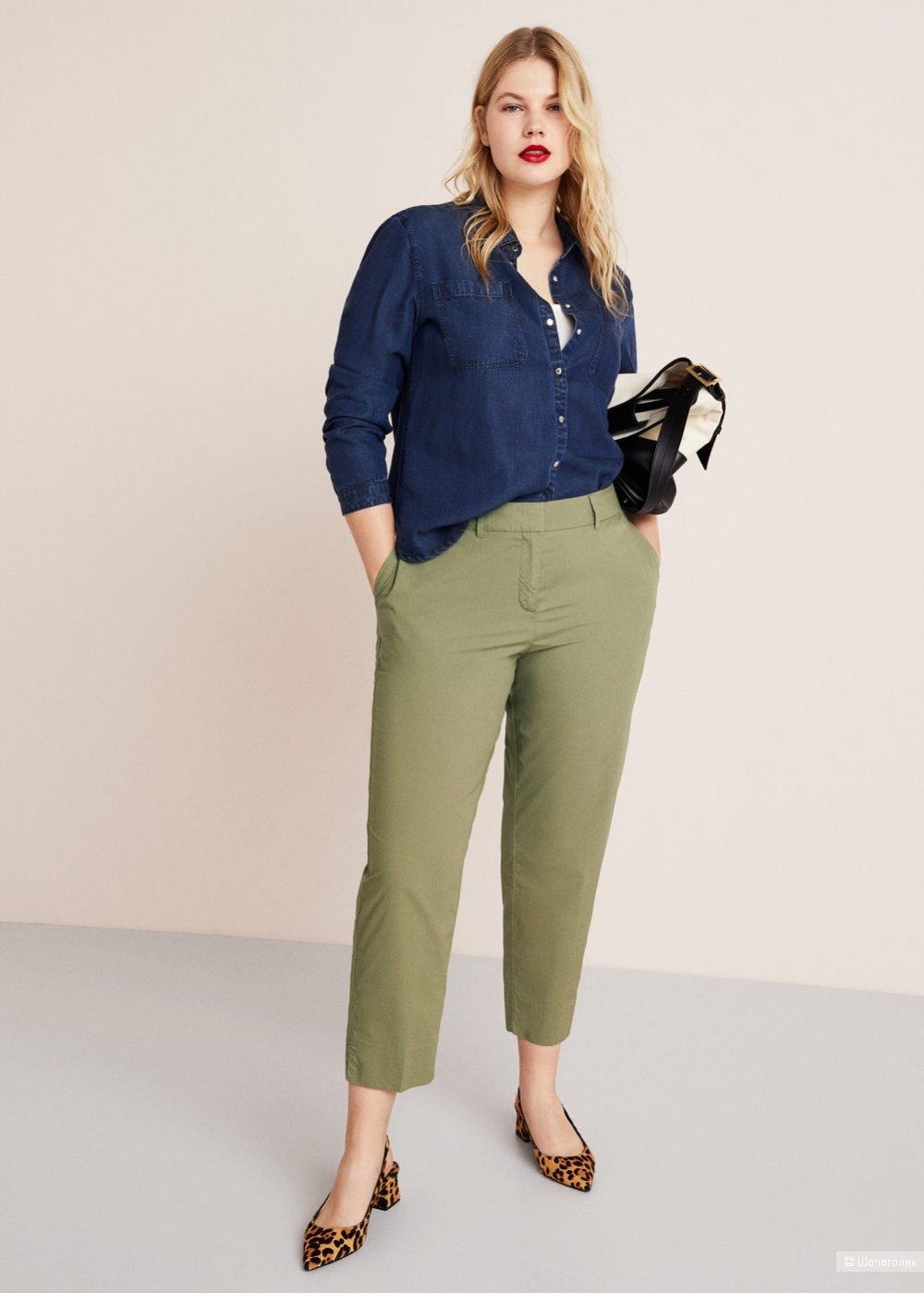 Хлопковые брюки mango, размер L