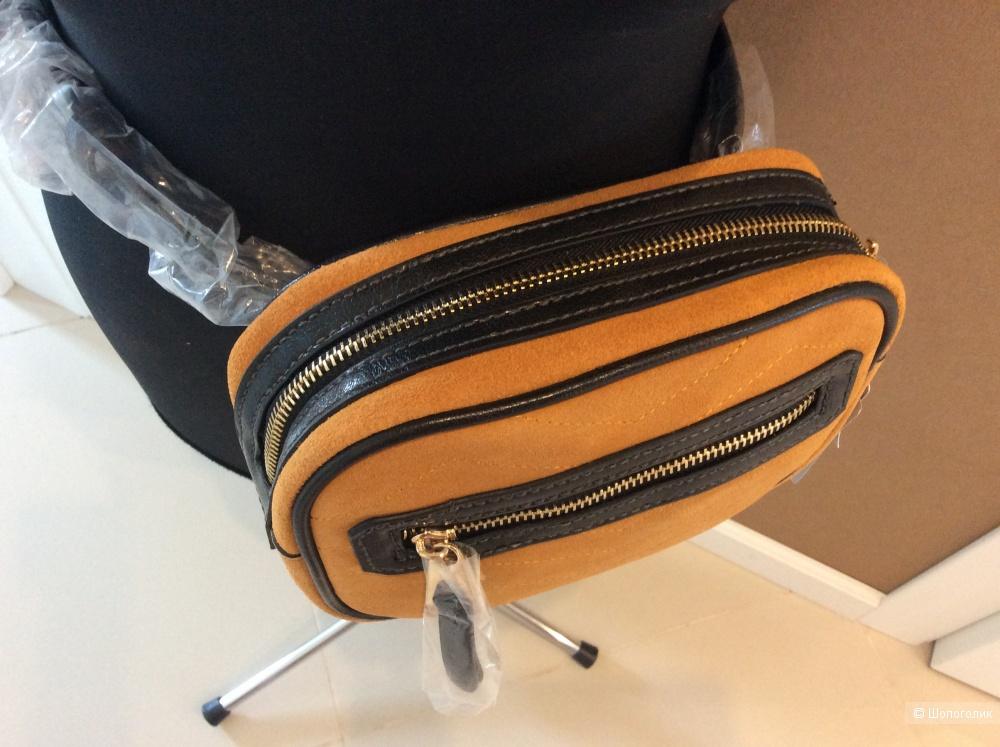 Поясная сумка из замши MANGO one size
