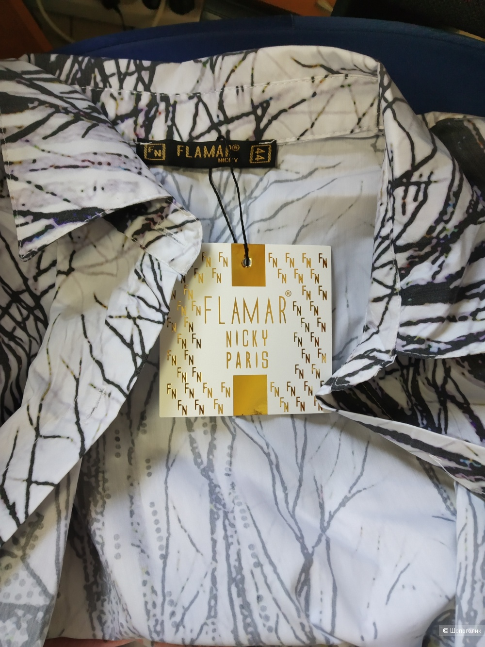 Женская рубашка-туника, 48 р
