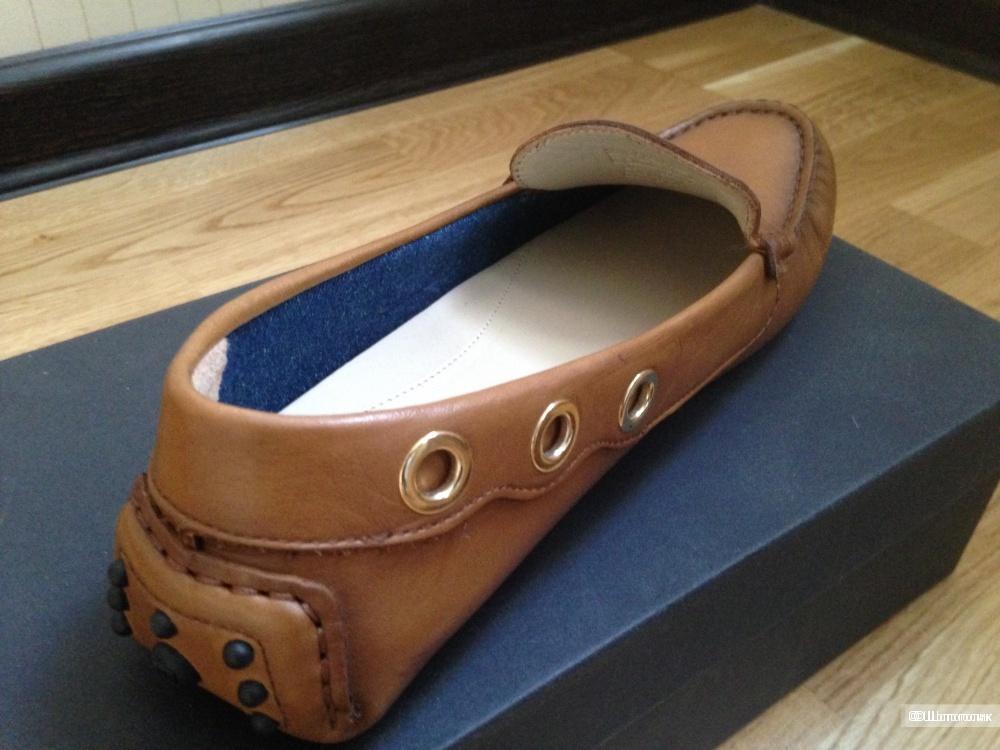 Новые мокасины Massimo Dutti размер 38 (стелька 25,5 см)