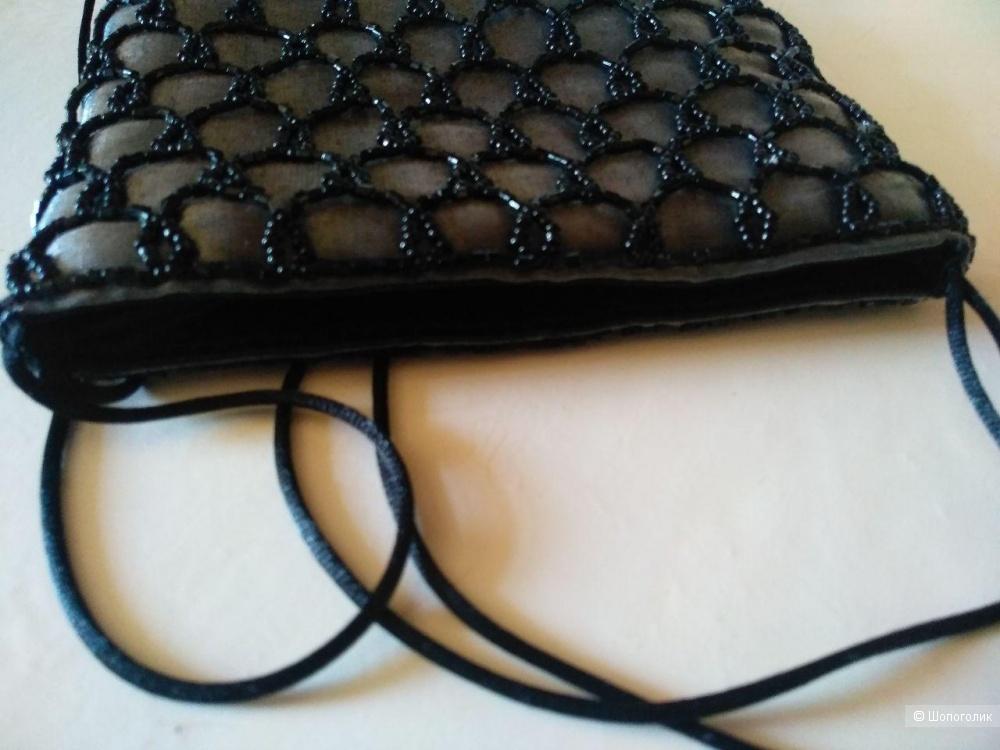 Вечерняя сумочка и колье из бисера one size