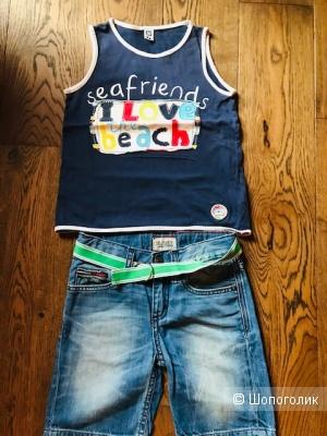Комплект 3 вещи -шорты Tommy Hilfiger + пояс+ майка-   размер 5 лет