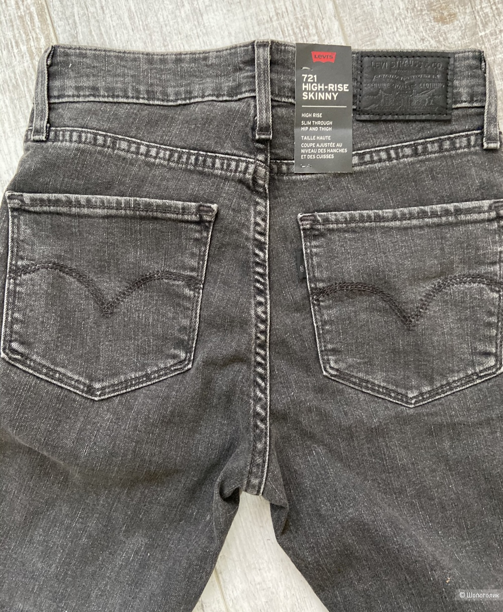 Темно-серые джинсы Levi's 721 High-rise Skinny/ W25-L32