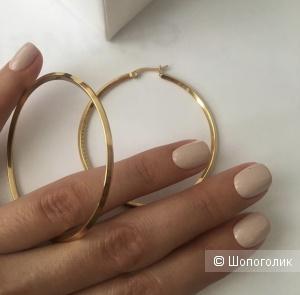 Серьги кольца стиль Celine