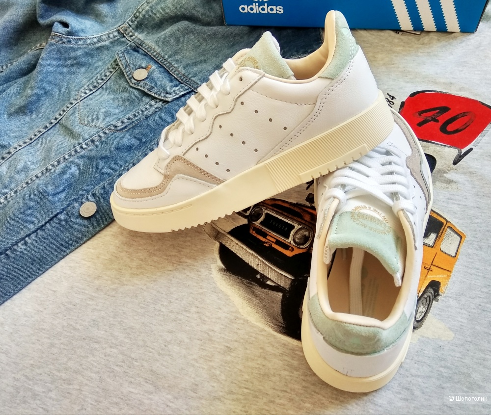 Белые Кроссовки Adidas Supercourt 36 размер