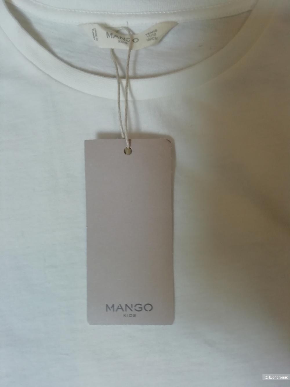 Хлопковый топ на девочку 11-12лет Mango