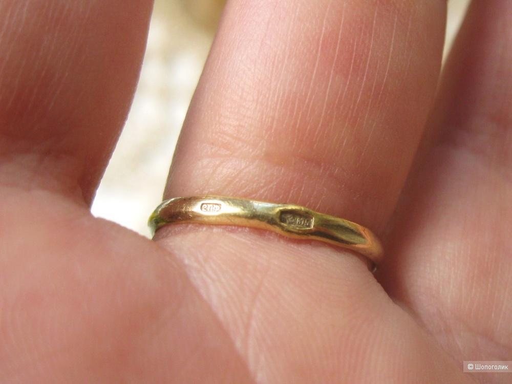 Винтажное серебряное кольцо, 20 размер
