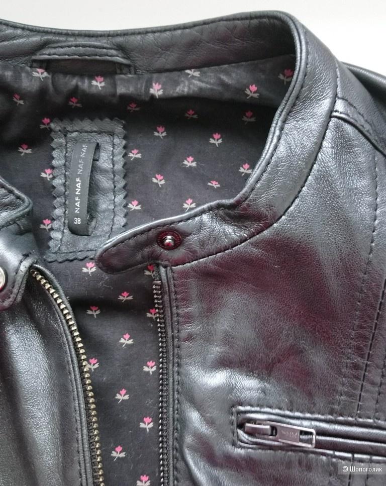 Куртка кожаная Naf Naf, р-р 38 (RUS 42-44)