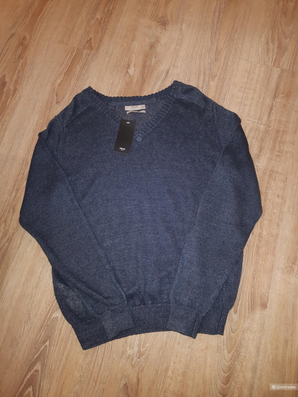 Льняной пуловер mango, размер m