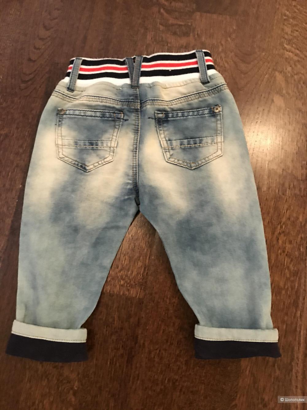 Поло Chicco, джинсы Wojcik, шорты Coton, размер 74