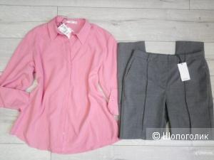 Прямые брюки с шерстью mango, размер М