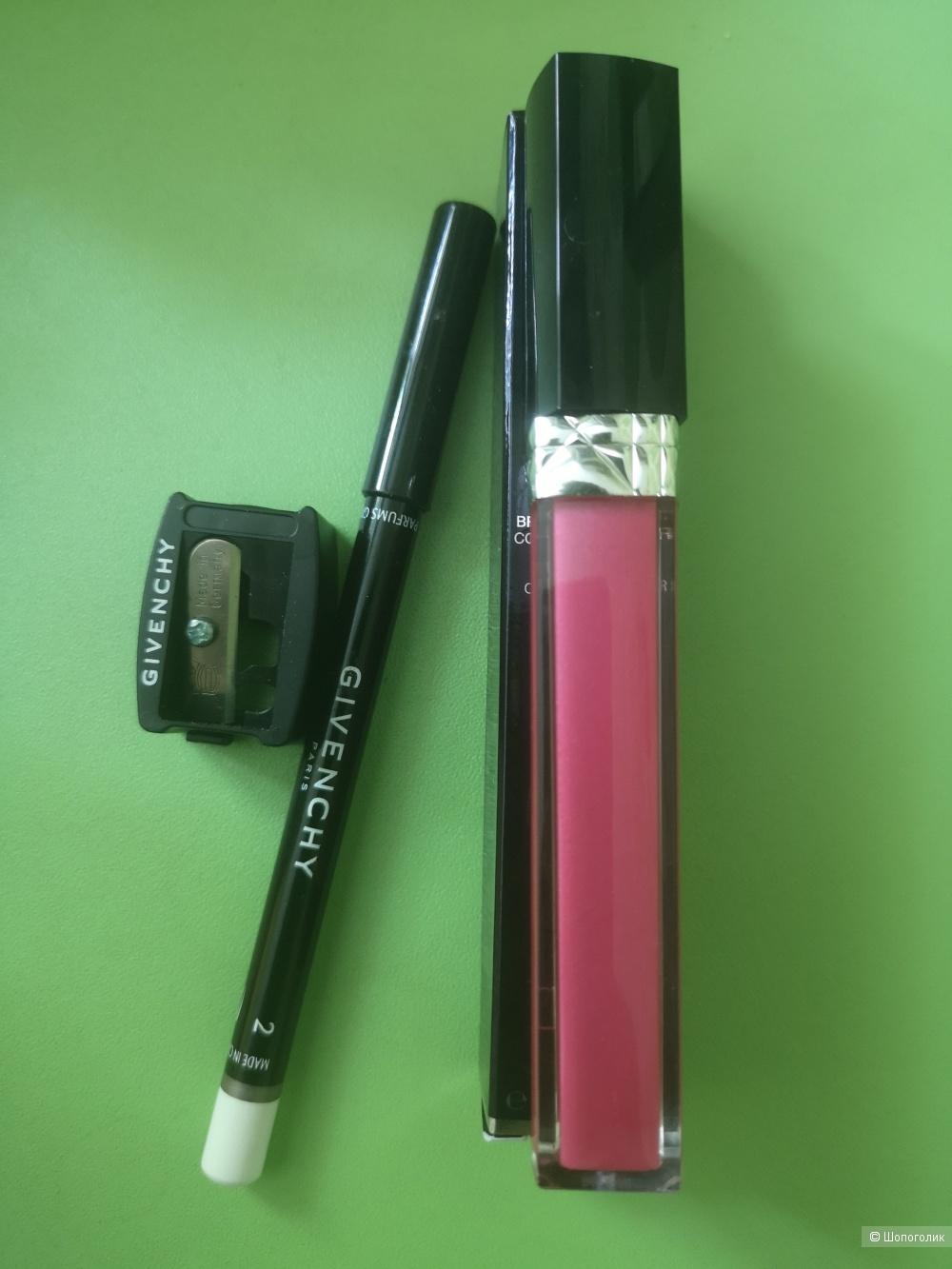 Блеск для губ Dior +карандаш для глаз Givenchy