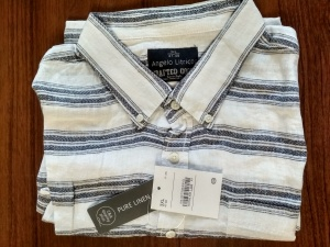Льняная рубашка Angelo Litrico, размер  3XL , 47/48 на наш 64-66