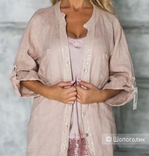 Рубашка кардиган лен PURO LINO ITALY, 46-52