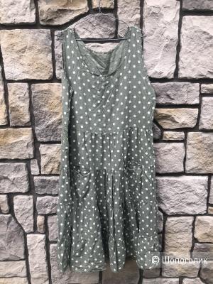 Платье сарафан Polka dot Italy olive, 48-56
