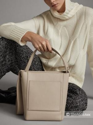 Кожаная сумка Massimo Dutti.