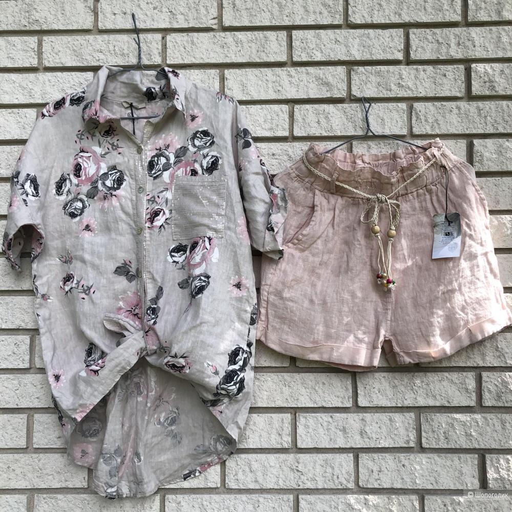 Комплект шорты Italy linen и футболка/рубашка , 42-54