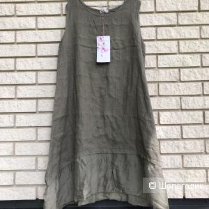 Платье plus size OLIVE PURE LINO , 44-54