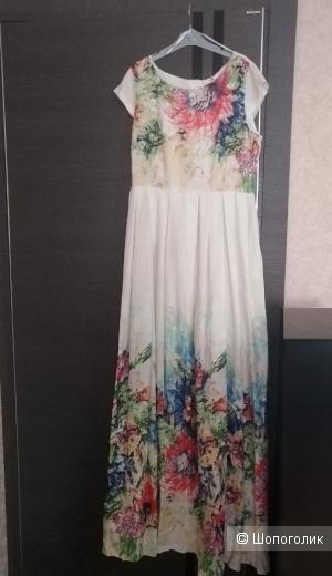 Льняное Платье BEHCETTI 46 р. (M, L)  рост выше 175м
