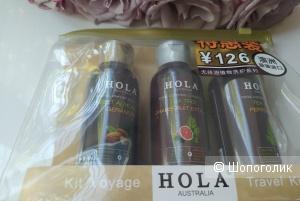 Hola дорожный набор косметики для волос  в прозрачной косметичке , 300мл