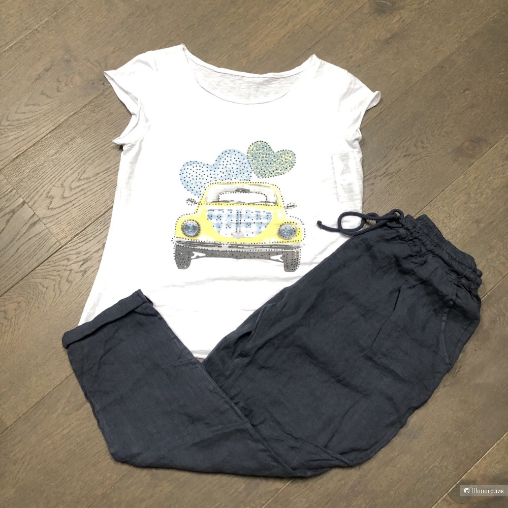 Комплект брюки pure lino italy и футболка, 44-52