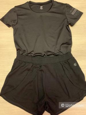 Комплект: футболка/H&M+шорты/F4, разм. 42-44 рос.