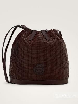 Новая кожаная сумка massimo dutti, размер средний