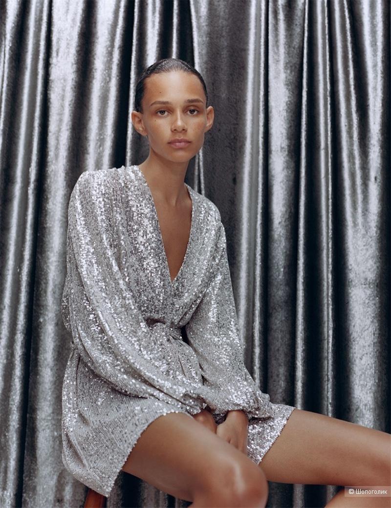 Платье с пайетками ZARA, 42