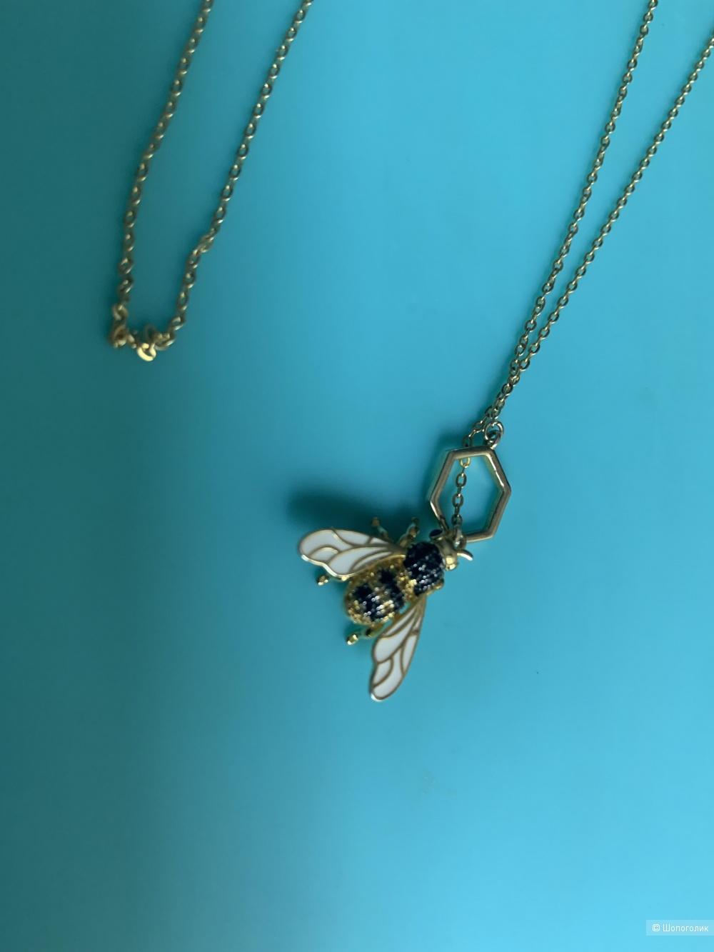 Колье серебряное Sunlight Bees, one size