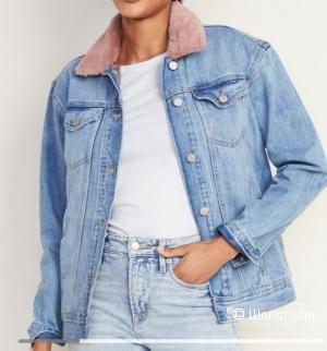 Джинсовая куртка утепленная Old navy S размер джинсовка