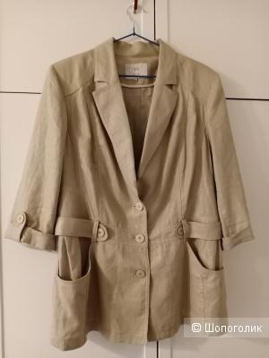 Жакет льняной / пиджак NELVA, 50-52 разм.